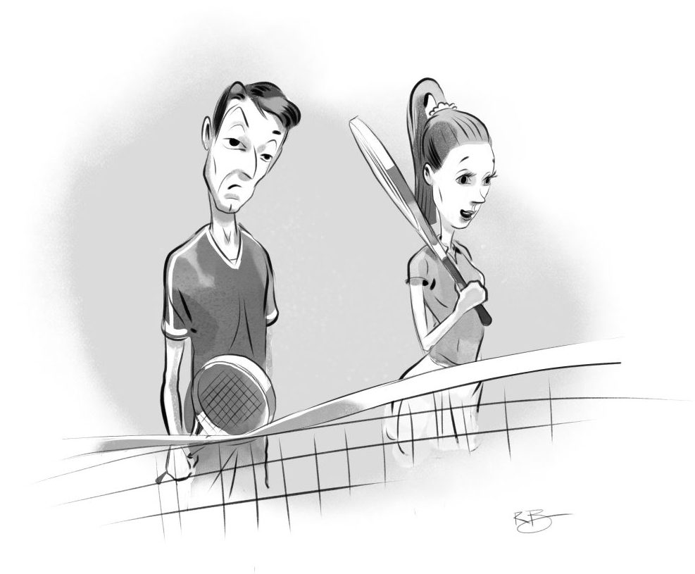 Tennis Between The Lines Caption Contest